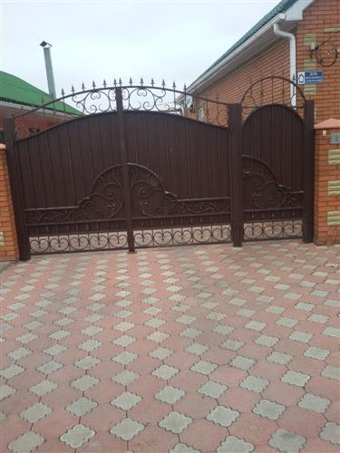 Ворота коричневые фото калитки и ворота в вологде